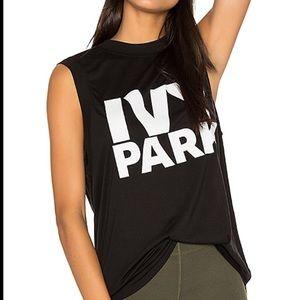 Ivy Park Black Muscle T-Shirt Tank Top Workout L